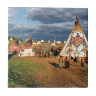 Native American Indian Village Tiles