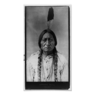 Native American Indian Vintage Portrait Poster
