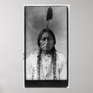 Native American Indian Vintage Portrait Print