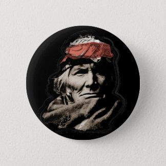 Native American Indian Warrior 2 Inch Round Button