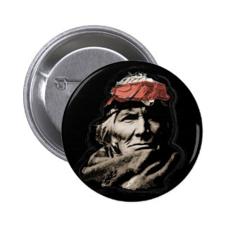 Native American Indian Warrior 2 Inch Round Button
