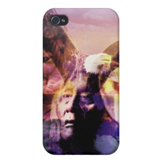 Native American Indian Warrior Cover For iPhone 4