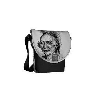 Native American Indian Warrior Messenger bag