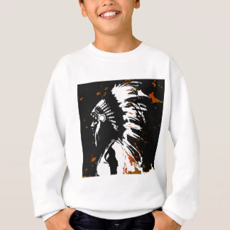 Native American Indian within Flames Sweatshirt