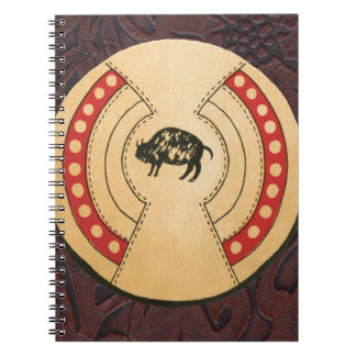 Native American Indiana Buffalo Leather Shield Notebook