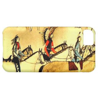 Native American Indians Primitive Art Iphone Case