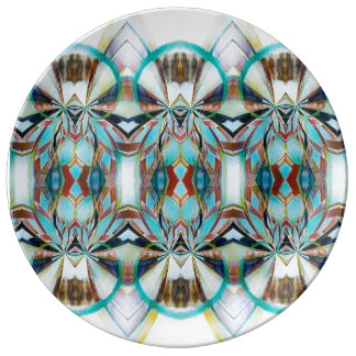 Native American inspired porcelain plate