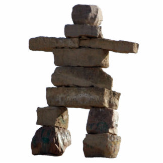 Native American Inuit Inukshuk Sculpted Gift Photo Sculpture Magnet