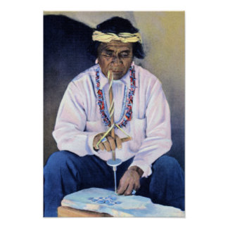 Native American Jeweler Poster