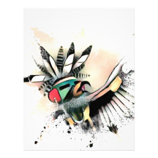 Native American Kachina Dancer Letterhead