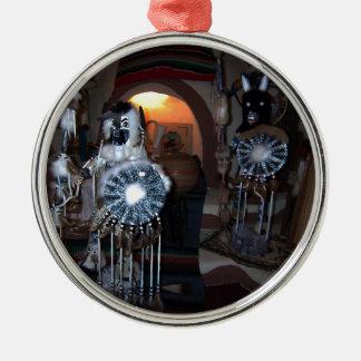 Native American Kachina Dolls Silver-Colored Round Ornament