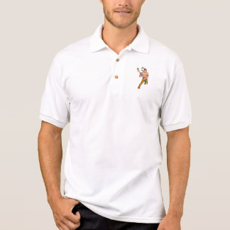 Native American Lacrosse Player Cartoon Polo Shirt