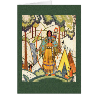 Native American Maiden Note Card