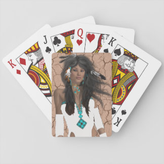 Native American Maiden Playing Cards