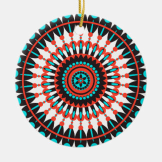 Native American Mandala Ceramic Ornament