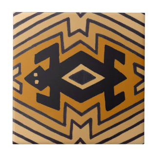 Native American Mimbres Bear Tile