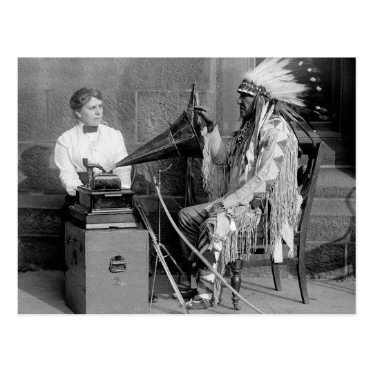 Native American Music, 1915 Postcard