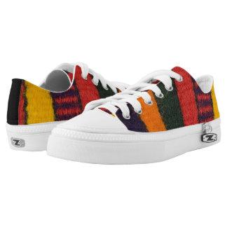 Native American Navajo Indian rainbow color Low-Top Sneakers