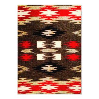 Native American Navajo Tribal Design Print Card