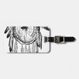 Native American Ornament Luggage Tag