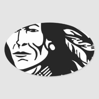 Native American Oval Sticker