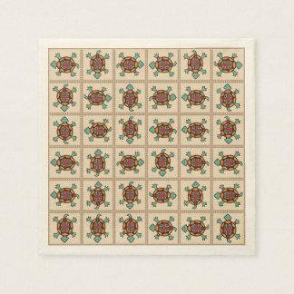 Native american pattern disposable napkin