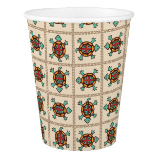 Native american pattern paper cup