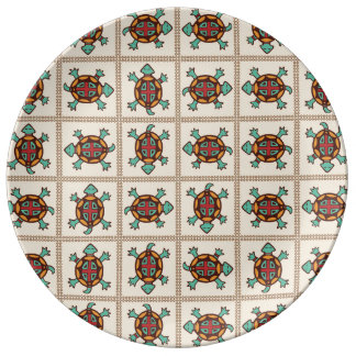 Native american pattern plate