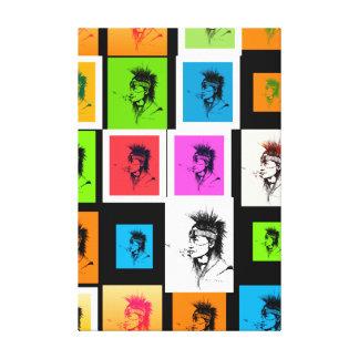 NATIVE AMERICAN - POP-ART CANVAS GALLERY WRAP CANVAS