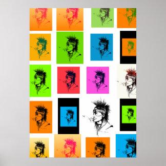 NATIVE AMERICAN - POP-ART POSTER