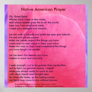 Native American Prayer Poster