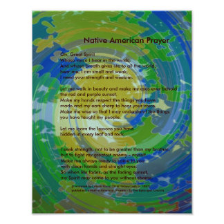 Native American Prayer Poster