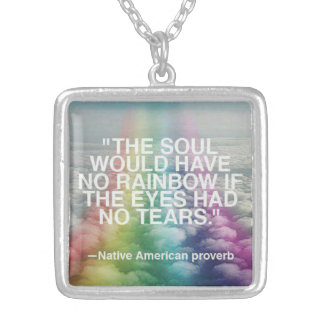 NATIVE AMERICAN PROVERB NECKLACE