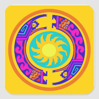 Native American Rainbow Spirits Square Sticker