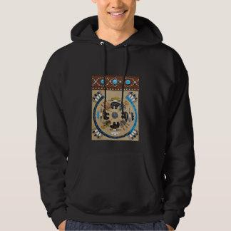 """Native American """"Sandpainting""""  Hoodie Sweatshirt"""