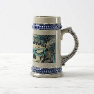 Native American Skull Beer Stein