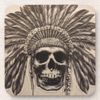 Native American Skull Chief (indian) Coaster