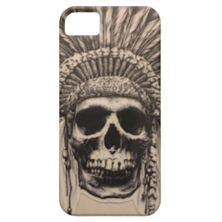 Native American Skull Chief (indian) iPhone 5 Cover