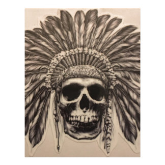 Native American Skull Chief (indian) Letterhead