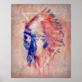 Native American Skull Poster