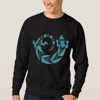Native American Spinning Lizard Design 2 Embroidered Sweatshirt