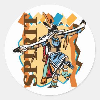 Native American Spirit Dance Classic Round Sticker