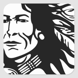 Native American Square Sticker