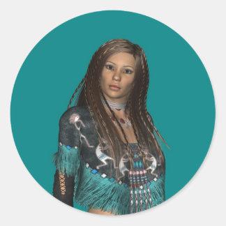 Native American Sticker Round Sticker