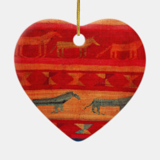 Native American Style Ceramic Ornament