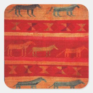 Native American Style Square Sticker