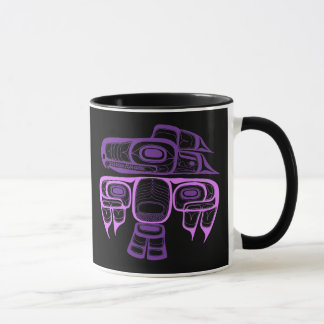 Native American Style Tlingit thunderbird purple Mug