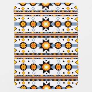 Native American Sun Pattern Baby Blanket