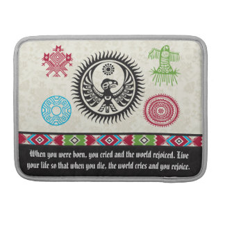 Native American Symbols and Wisdom - Phoenix MacBook Pro Sleeves