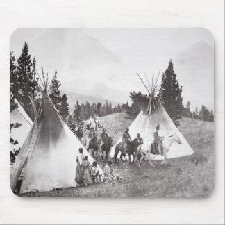 Native American Teepee Camp, Montana, c.1900 (b/w Mouse Pad